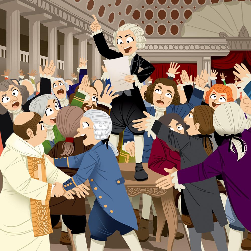 Pass Education-famille Pass temps-leçon-histoire-historique-jeu de paume-serment-illustrateur-brest-brestois