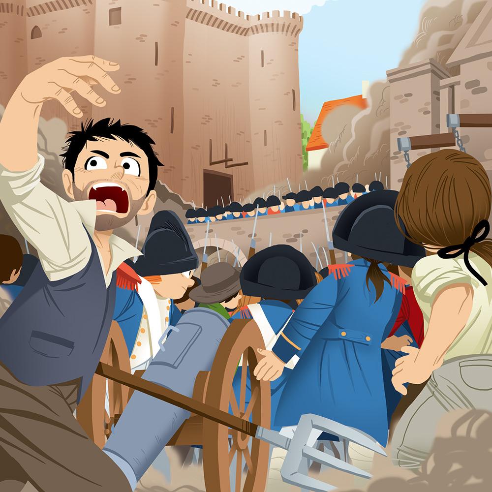 Pass Education-famille Pass temps-leçon-histoire-historique-prise de la Bastille-Bastille-révolution-française-illustrateur-brest-brestois