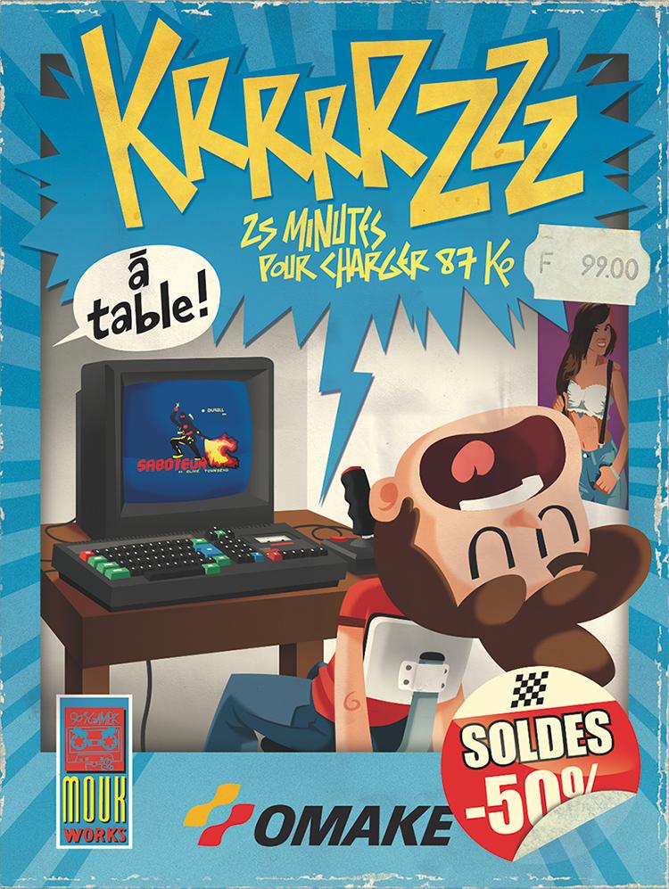 Omake Books-illustration-souvenir-memories-retro gaming-amstrad-cpc 464-saboteur