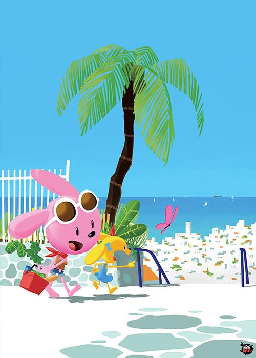 village-méditérannée-mer-océan-vacances-mouk-illustration-illustrateur-brest