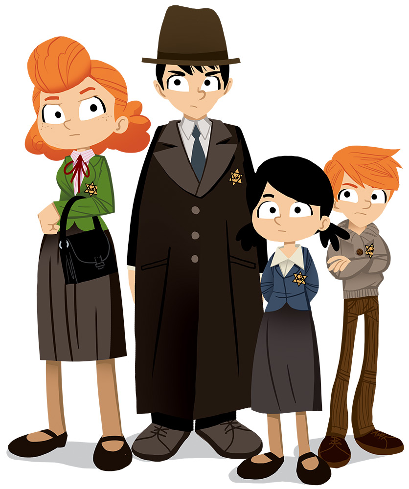 Pass Education-famille Pass temps-leçon-histoire-historique-famille juive-guerre