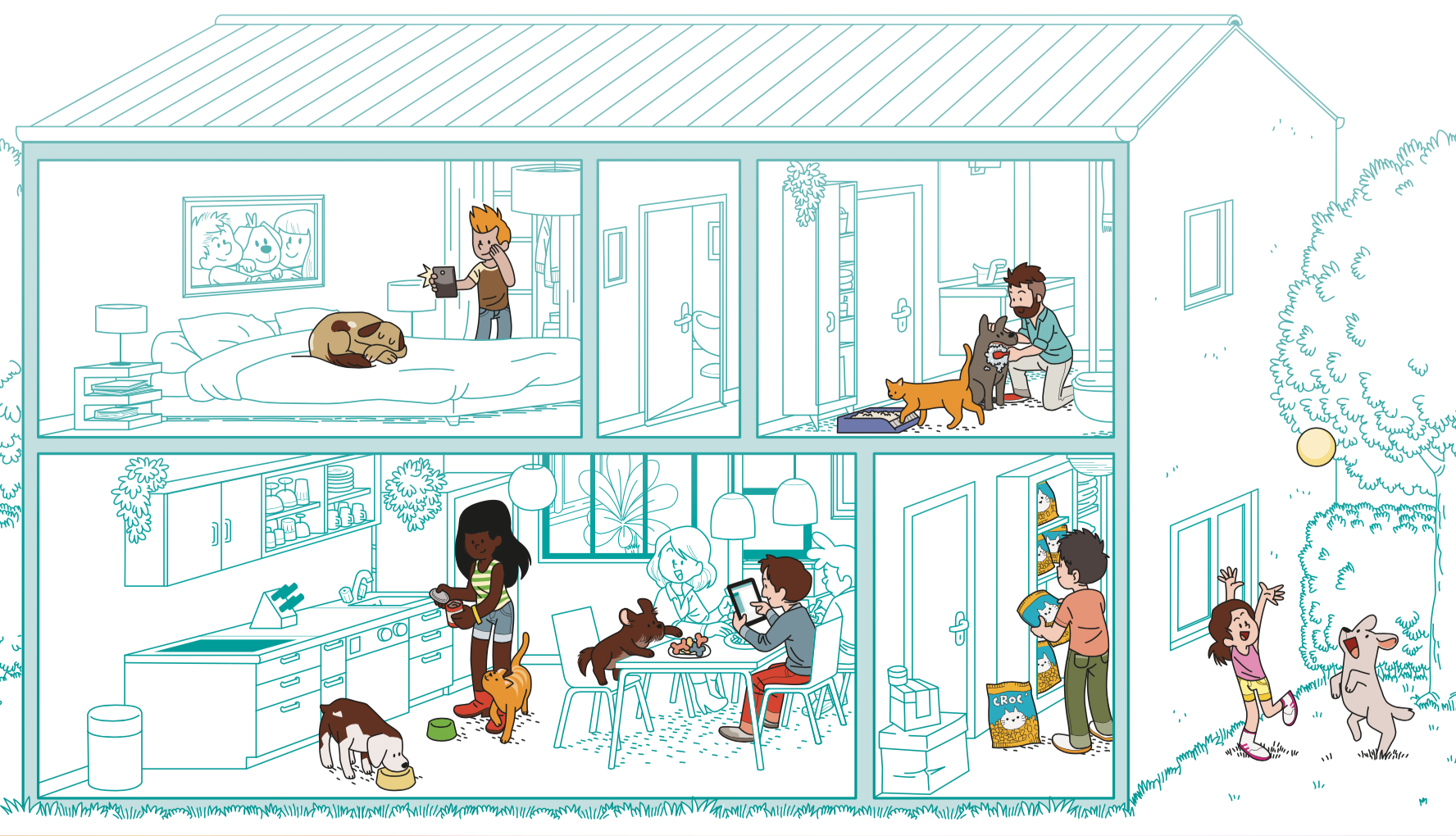 diana petfood-illustration-famille