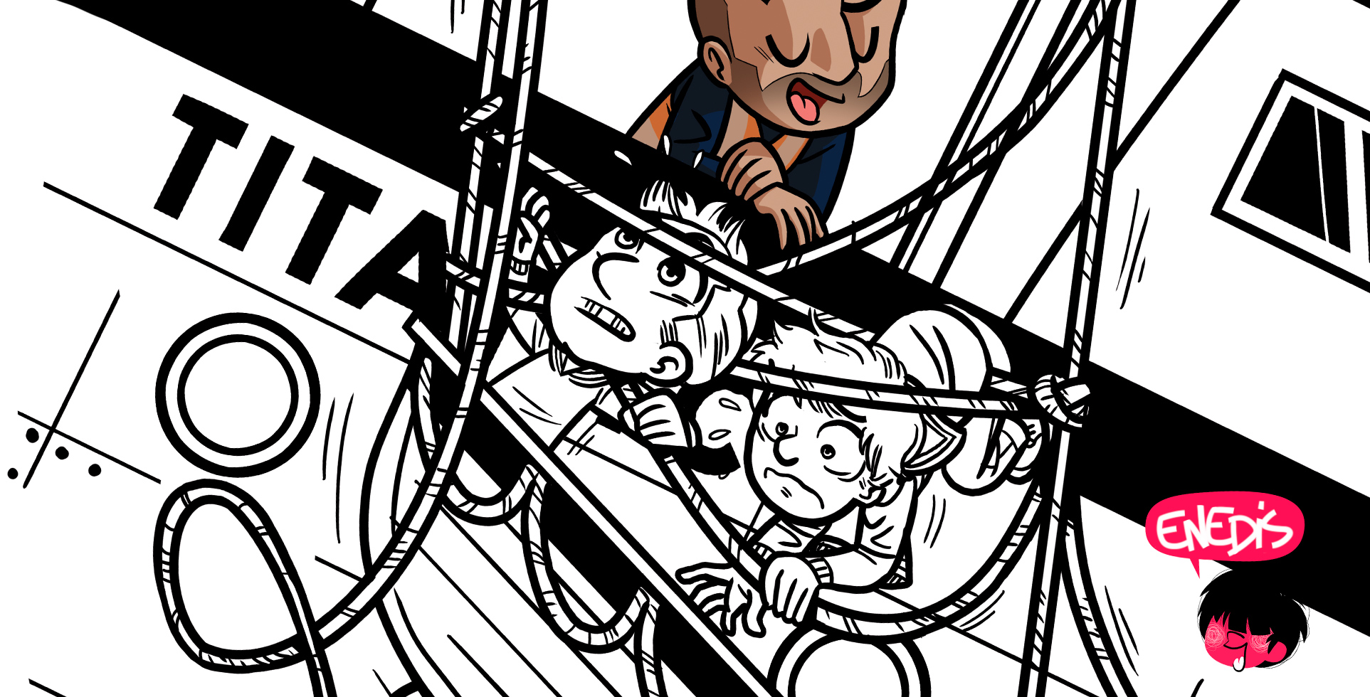 enedis-mascotte-illustration-Mouk-gaetan le cose-illustrateur-brest-brestois