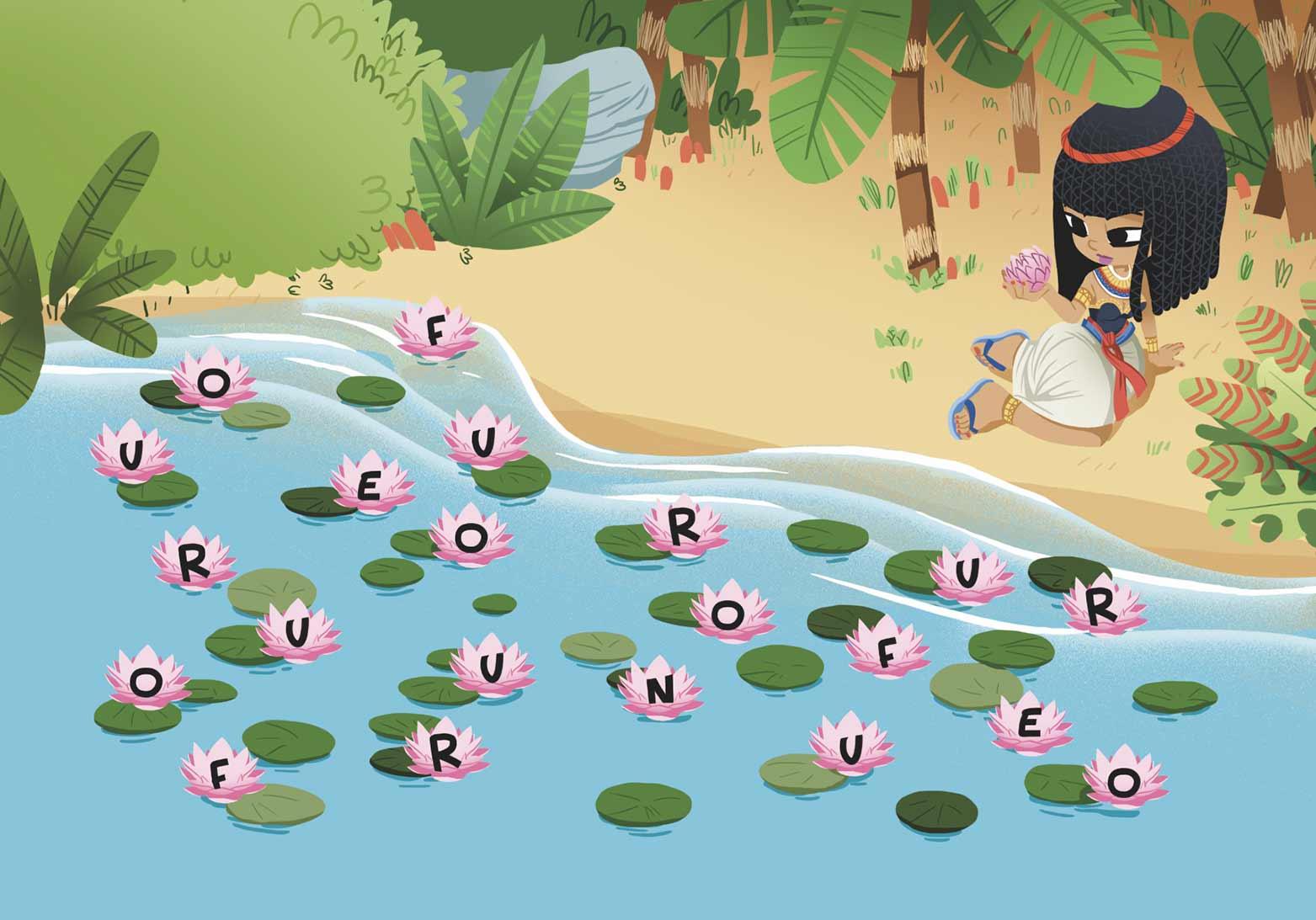 Auzou-cléopatre-jeu de mots-égypte-jeu-jeunesse-édition-édition jeunesse