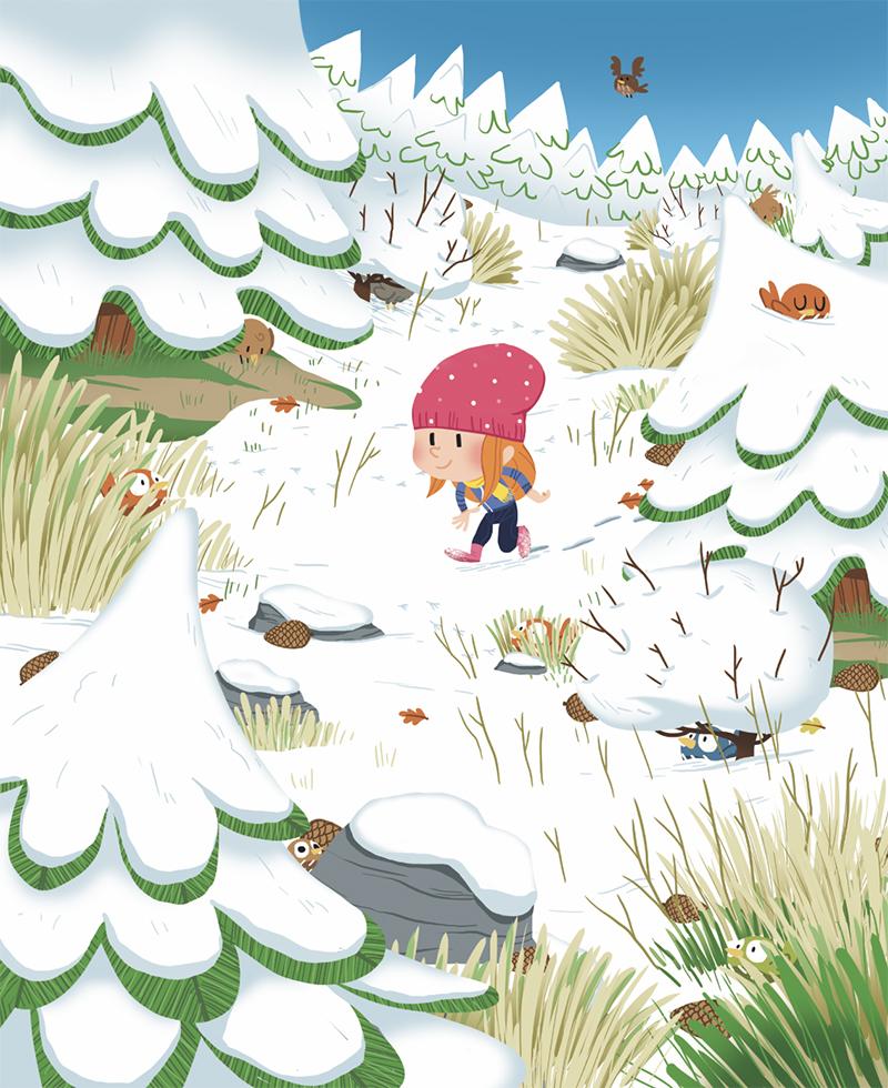 jeux-auzou-édition-jeunesse-édition jeunesse-illustration-foret-neige
