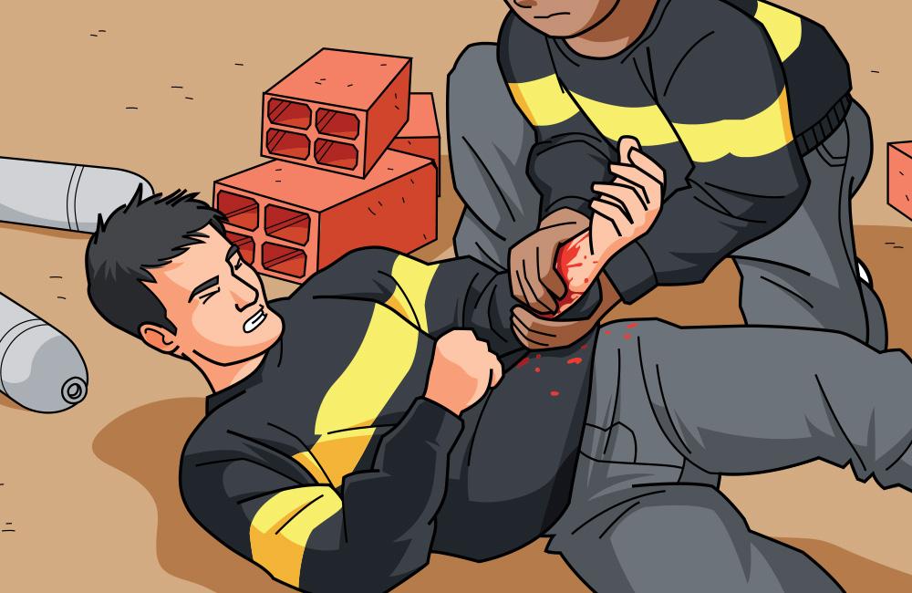 premiers secours-hémorragie-gestes qui sauvent-illustration