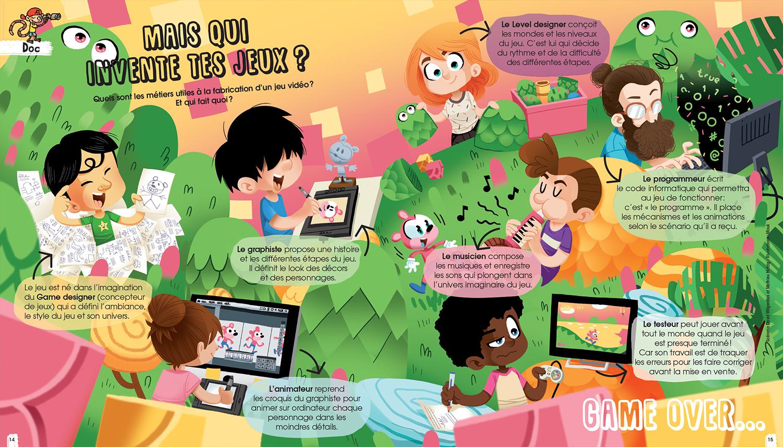 pirouette-jeux vidéo-presse-fleurus-mouk-gaetan le cose-illustrateur-illustration-brest-brestois