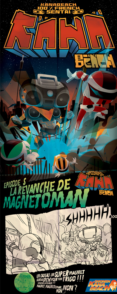 Kanabeach-sentai-shop-boutique-bioman-illustration-super héros